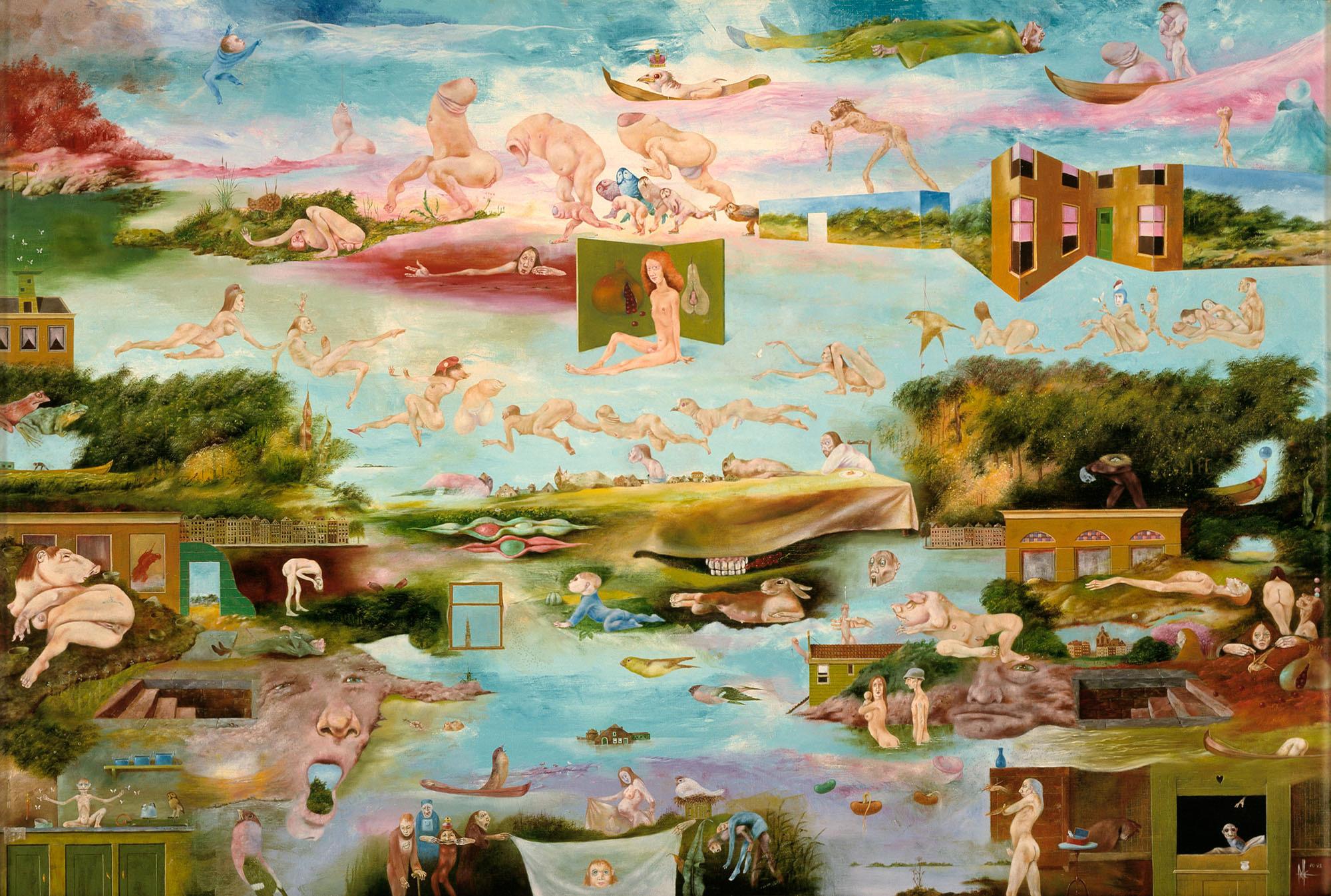 Melle schilder | Toerisme, olieverf op linnen