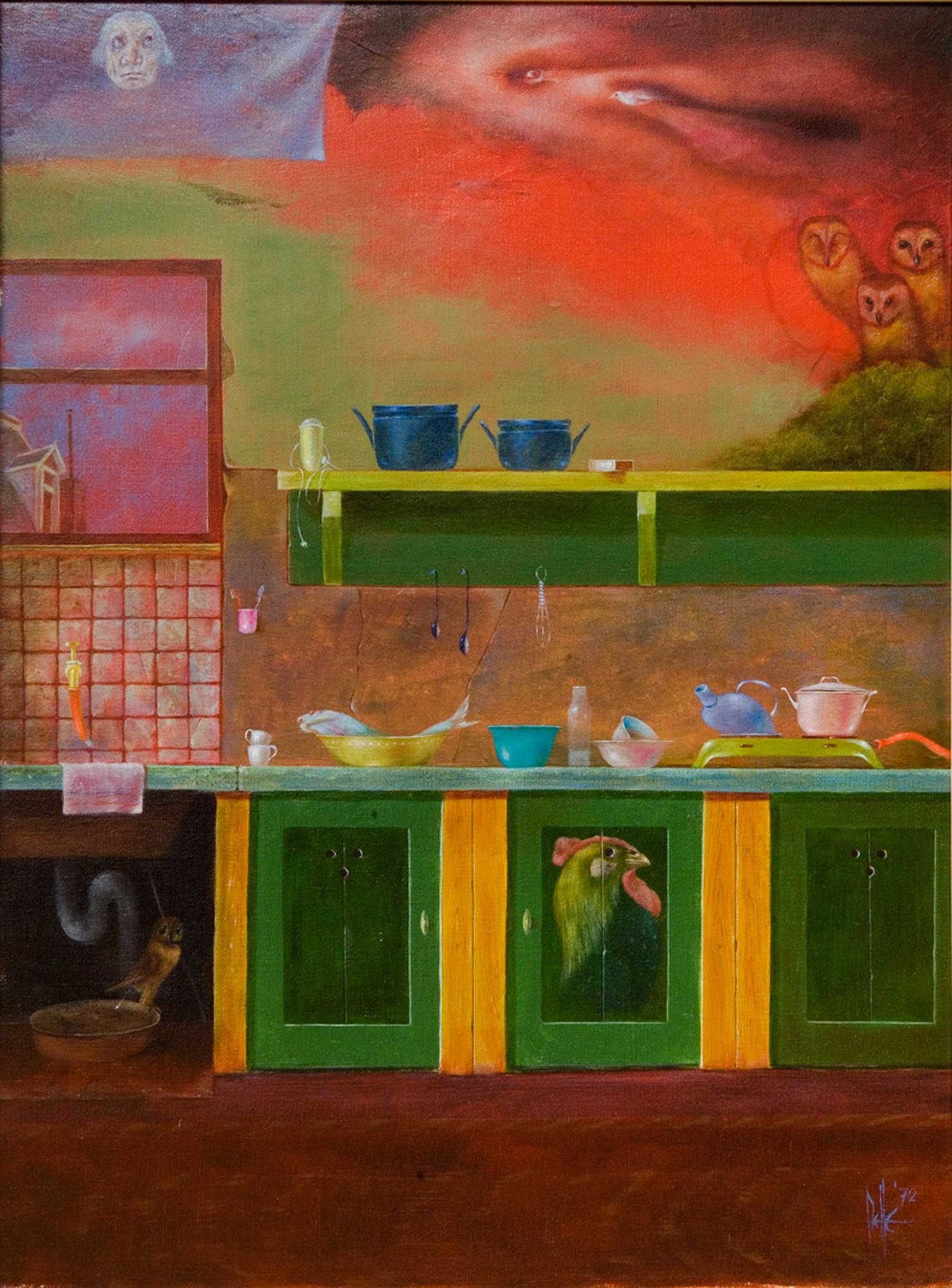 Melle schilder | Keukentje 1, olieverf op linnen