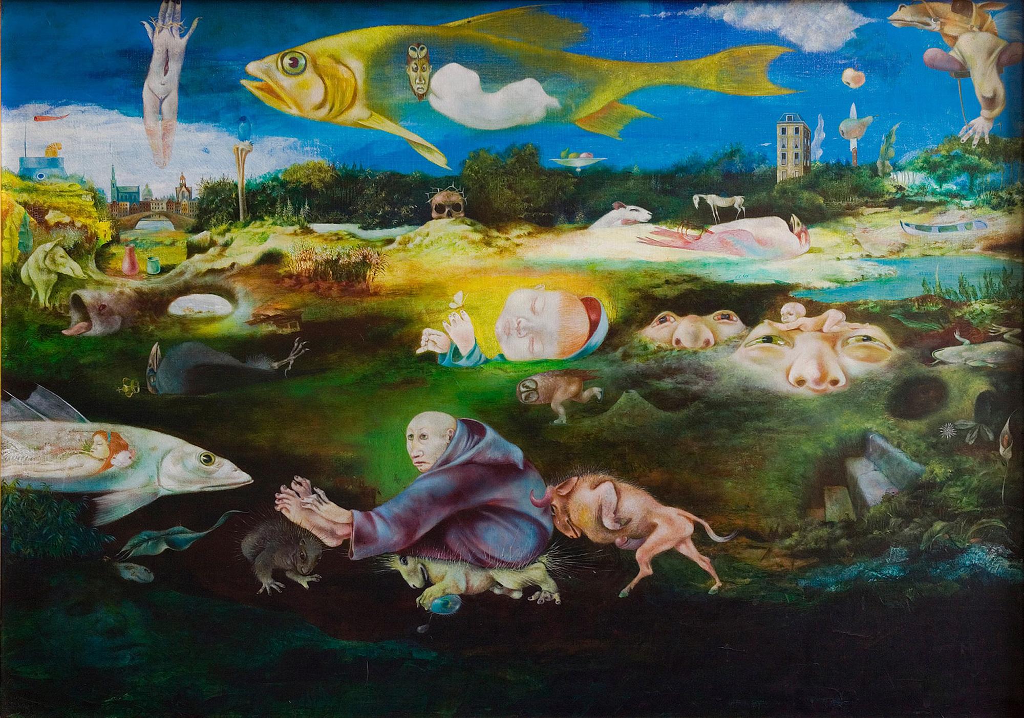 Melle schilder   Assisi II, olieverf op linnen