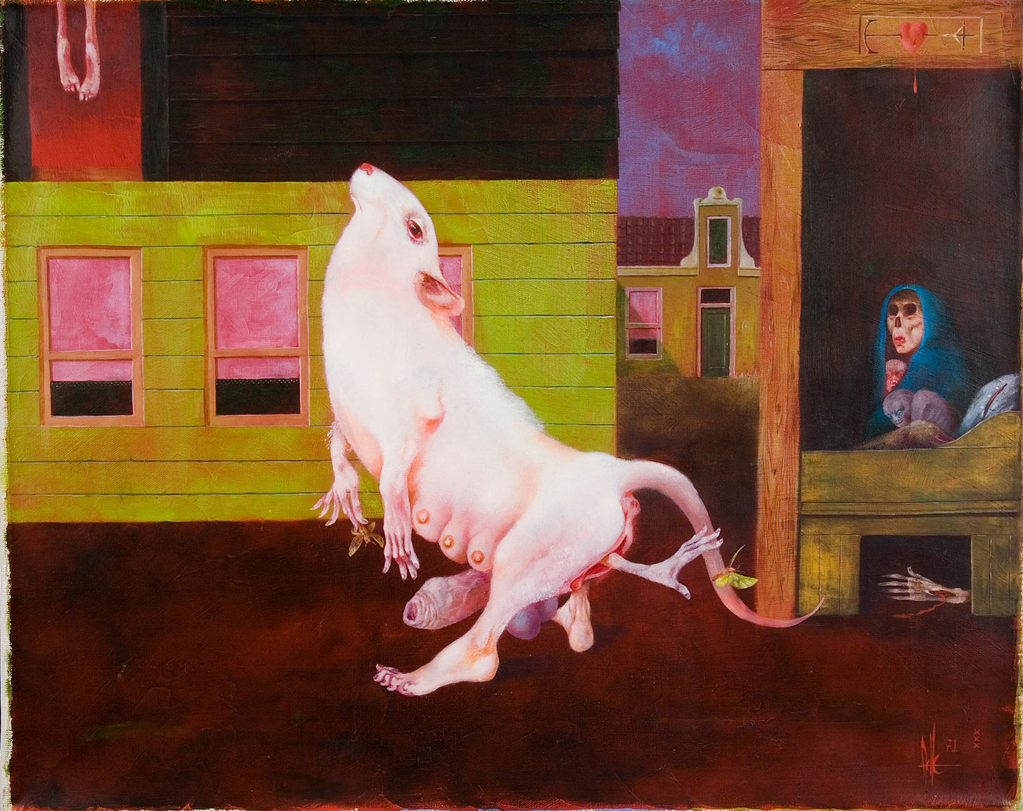 Melle schilder | Perpetuum mobile, olieverf op linnen