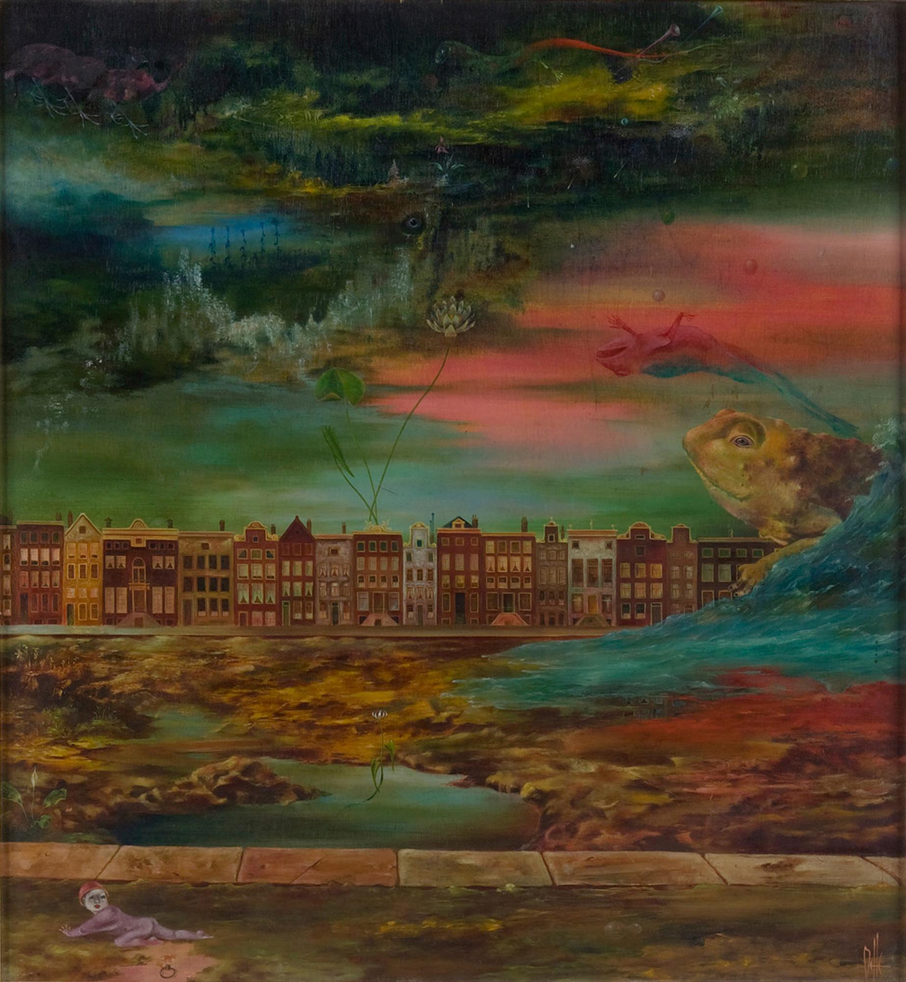 Melle schilder | Amsterdam, olieverf op paneel