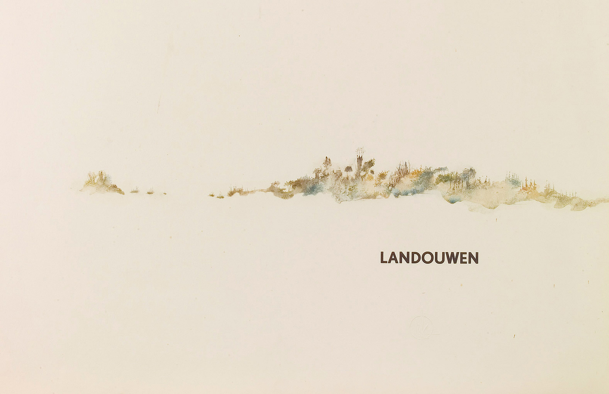 Melle schilder | Landouwen, aquarelverf op papier