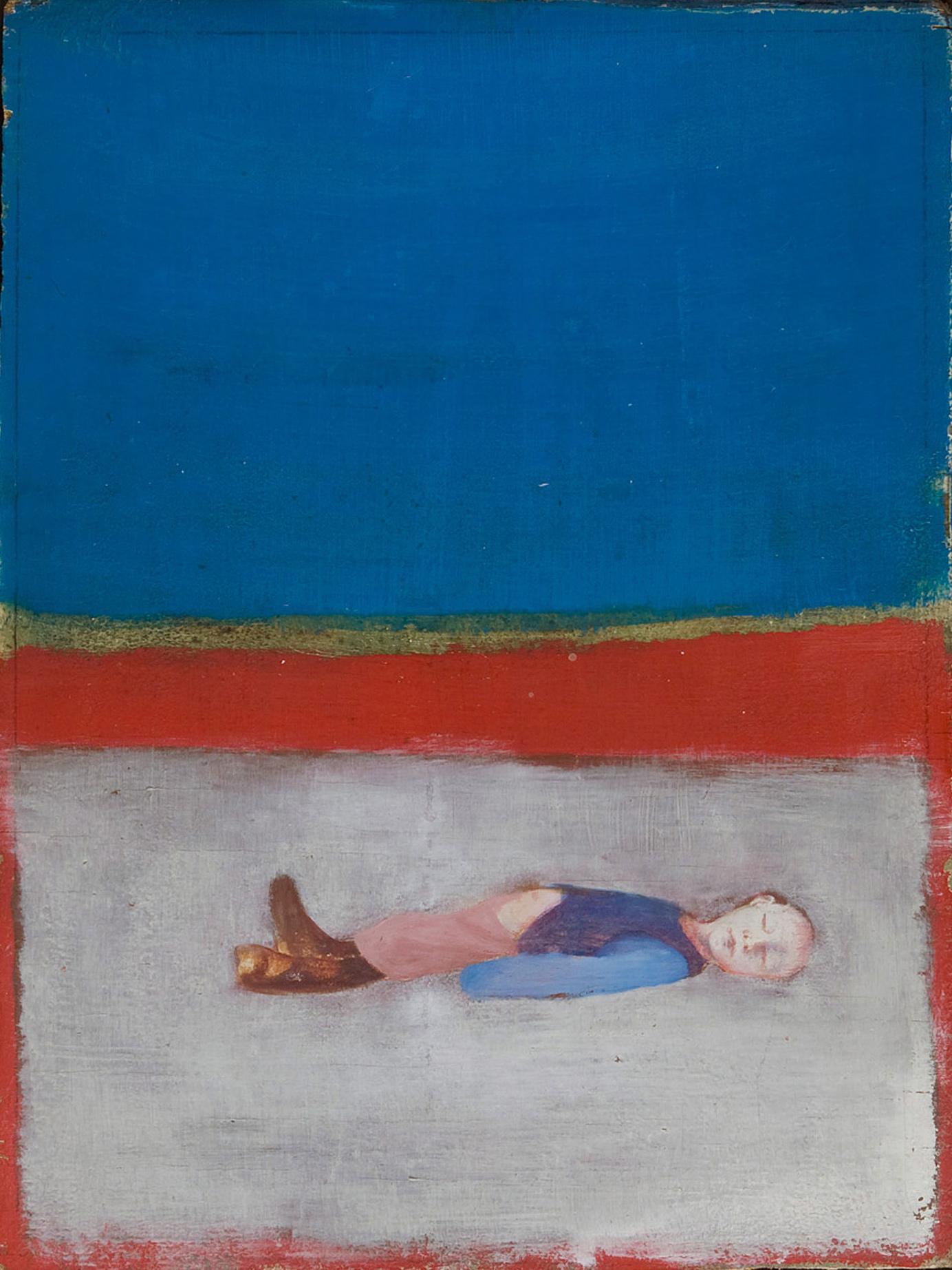Melle schilder   Dood Jongetje (laatste schilderij, onvoltooid), olieverf op paneel