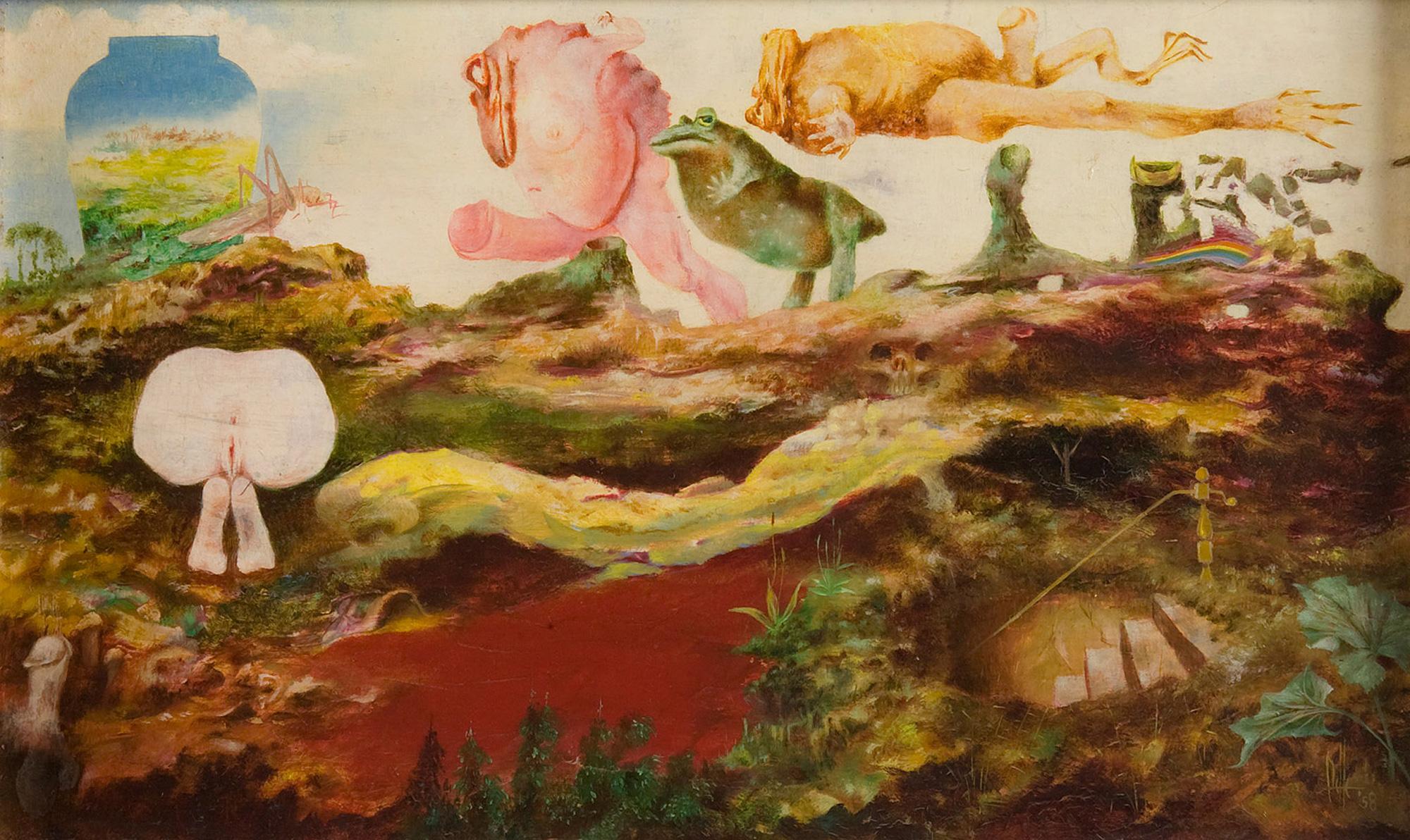 Melle schilder | Atoomwater (Vruchtbaarheid), olieverf op paneel
