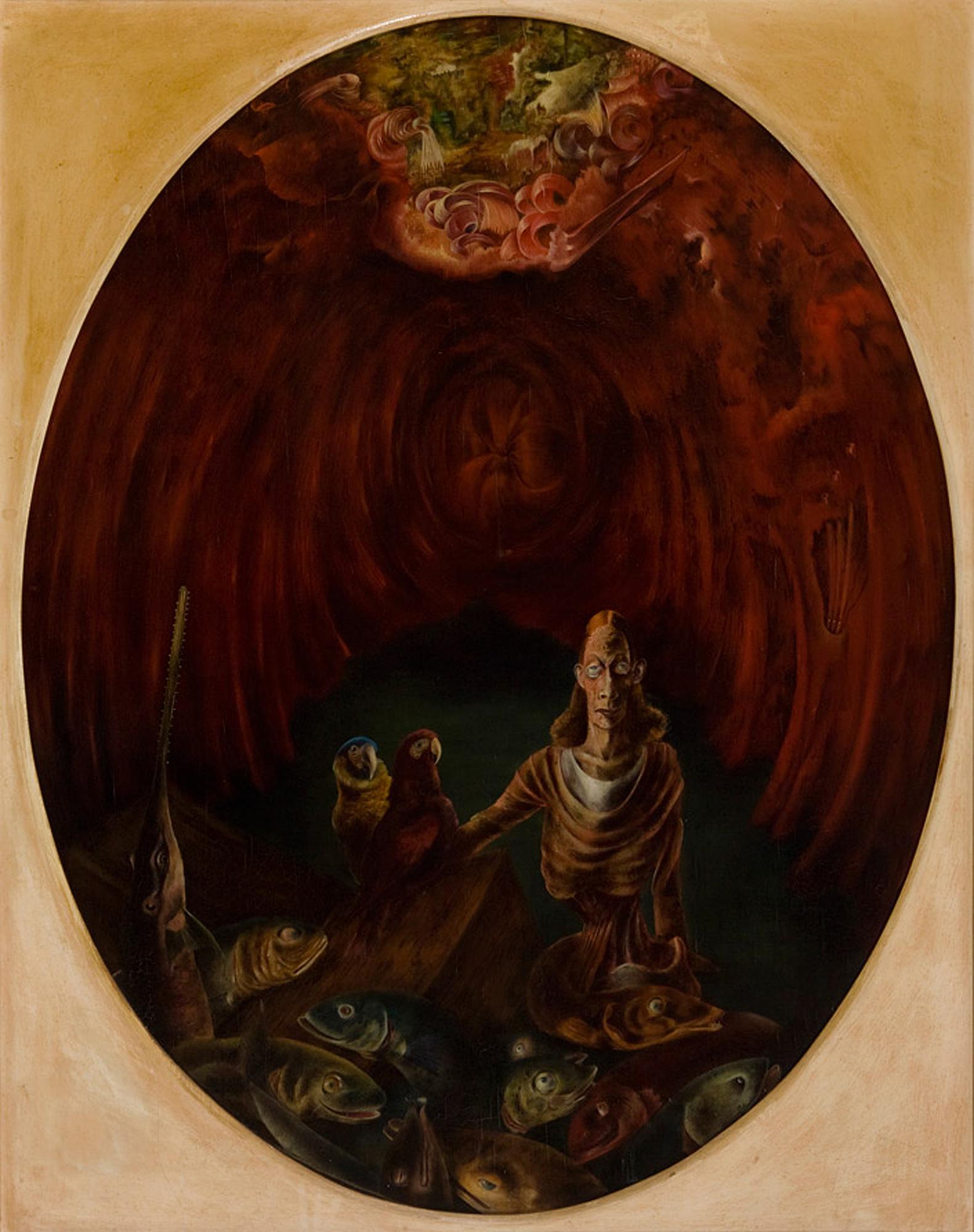 Melle schilder   Jonas, olieverf op paneel