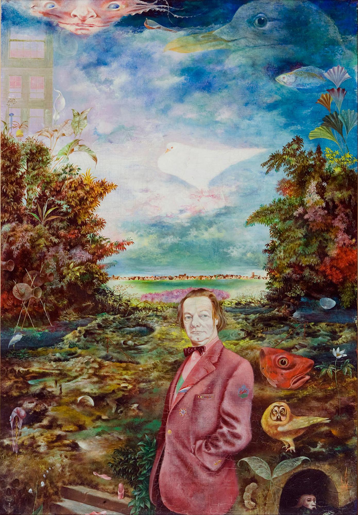 Melle schilder | Zelfportret, olieverf op linnen