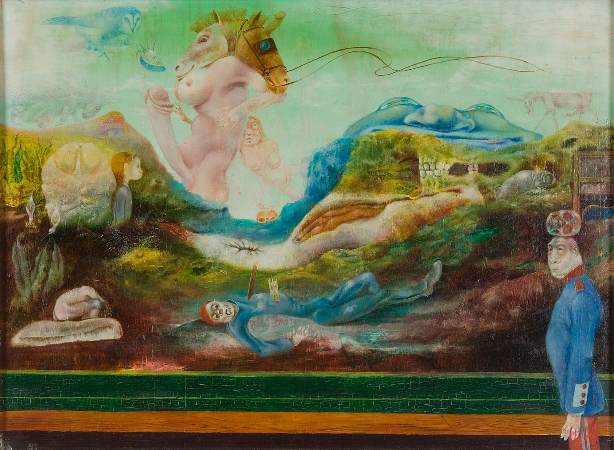 Melle schilder | Slag bij Waterloo, olieverf op paneel