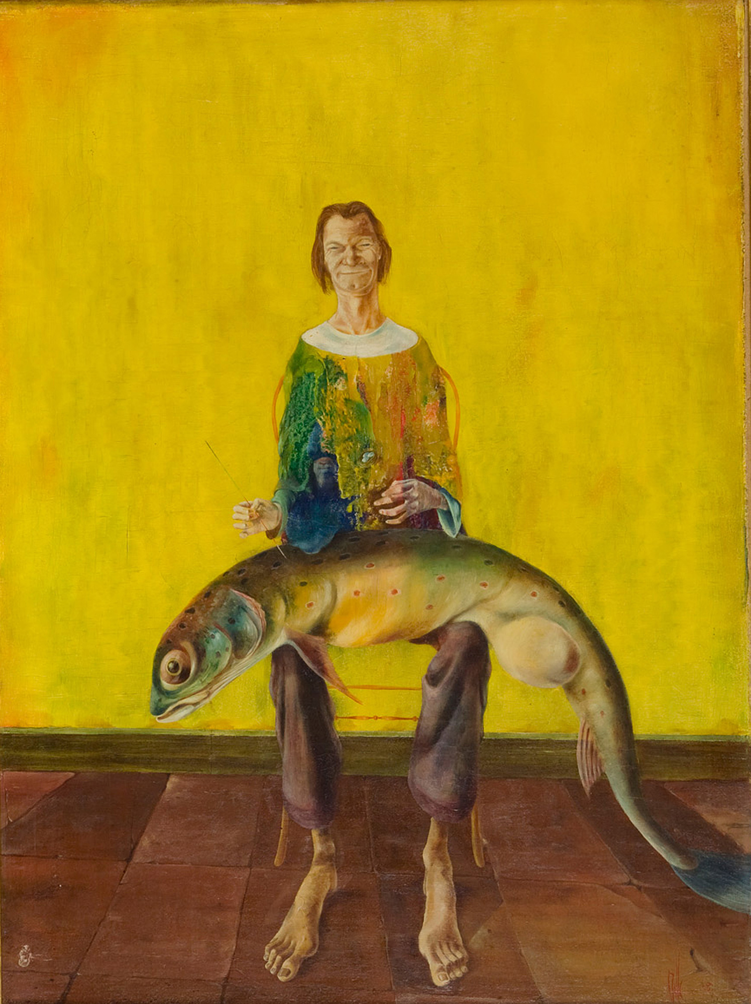 Melle schilder   Zelfportret, olieverf op linnen