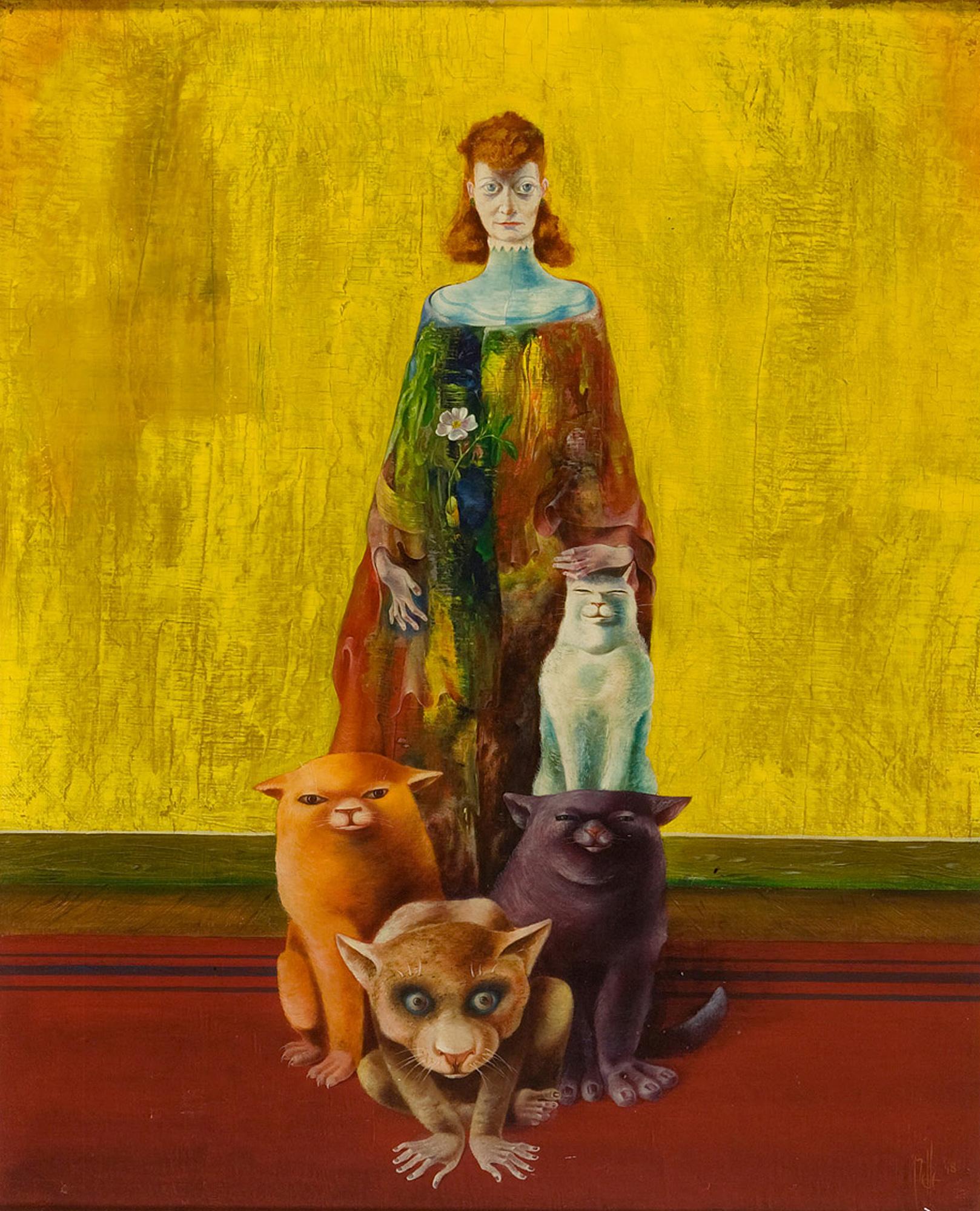 Melle schilder | Portret Marth, olieverf op linnen