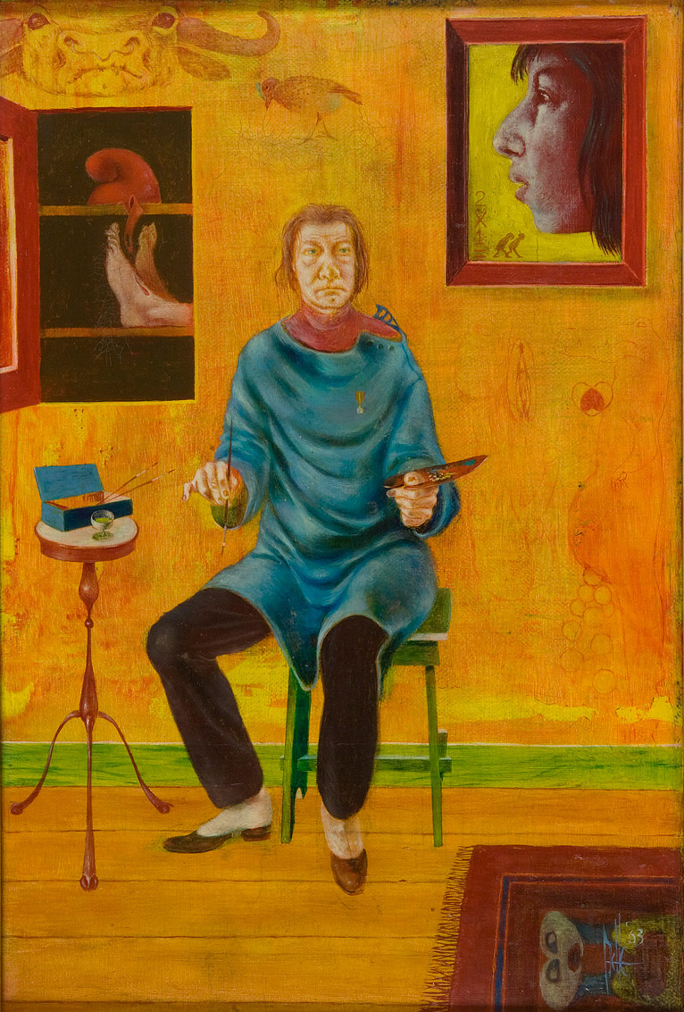 Melle schilder | Meisje met Wijnvlek (zelfportret), olieverf op linnen