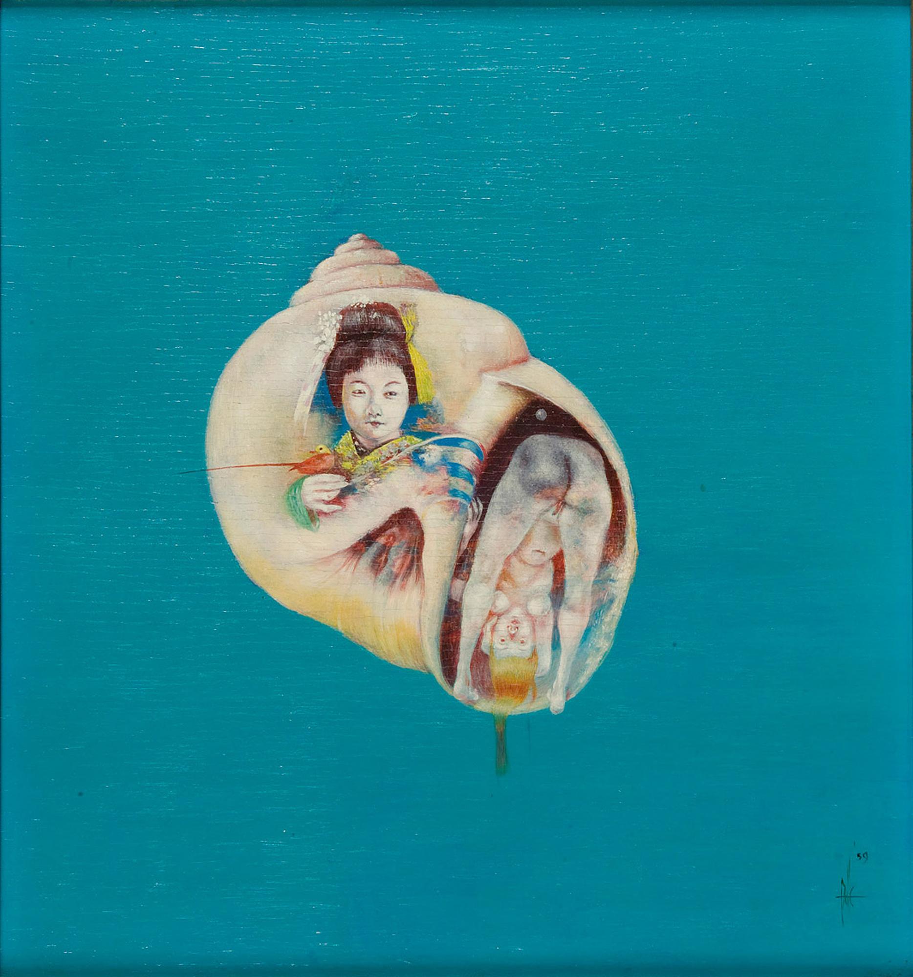 Melle schilder   Astroide, olieverf op paneel