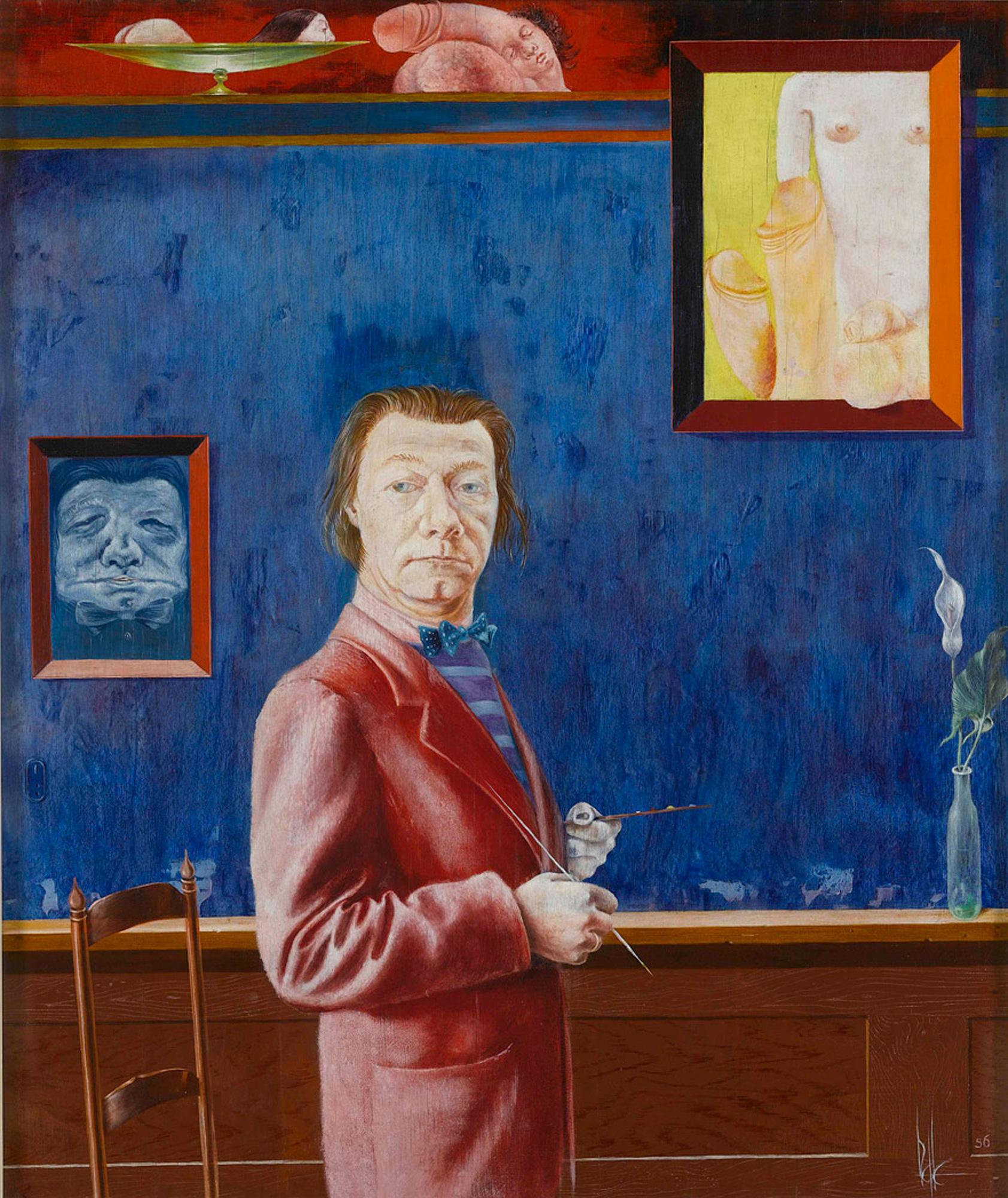 Melle schilder | Zelfportret, olieverf op paneel
