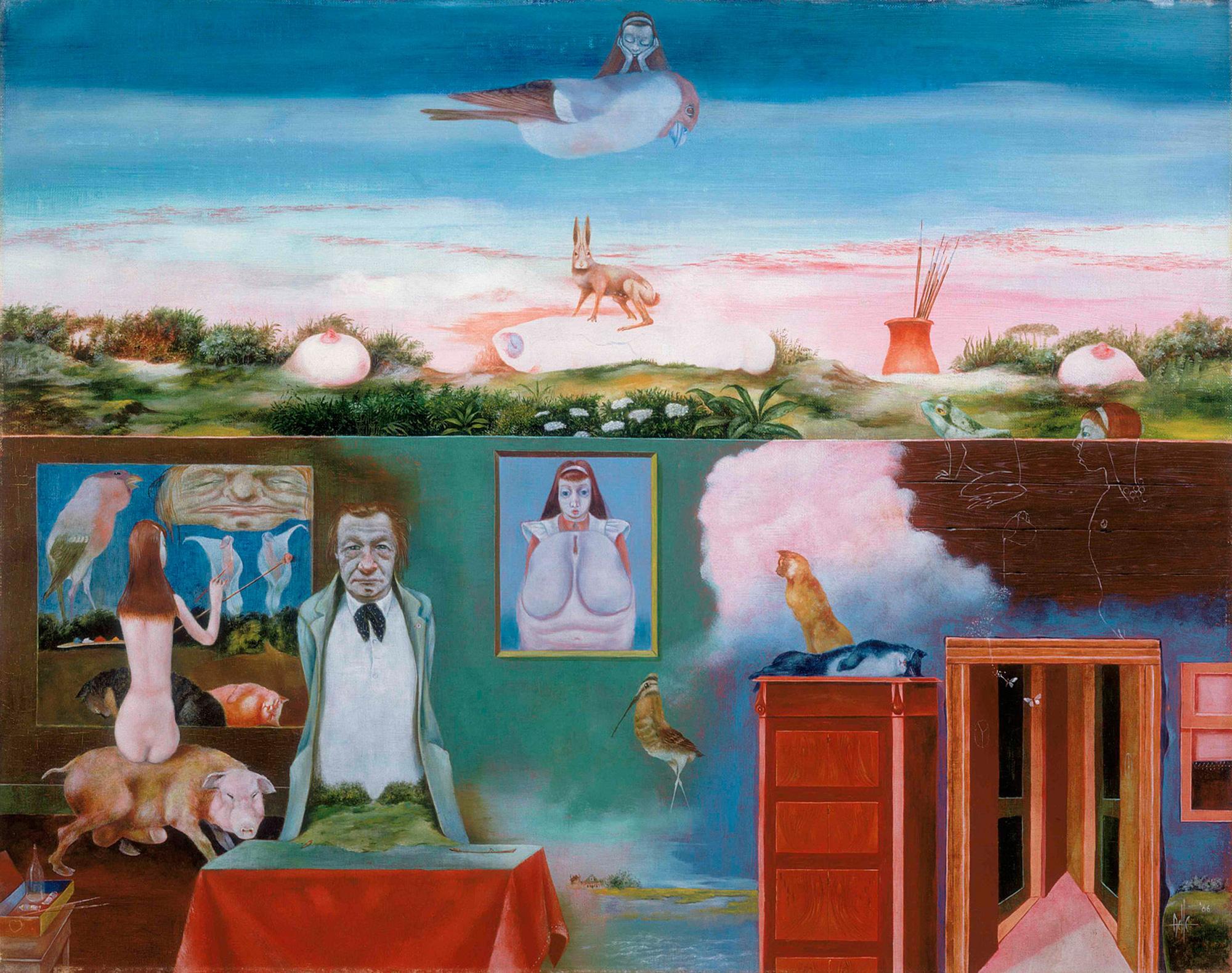 Melle schilder | Alice in wonderland, olieverf op linnen
