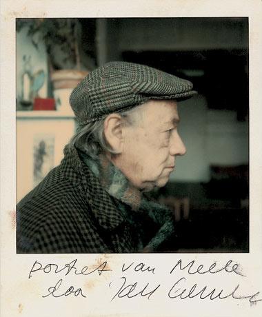Melle schilder   Melle door Jan Cremer, polaroid op fotopapier